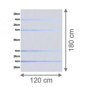 TraumGarten Sichtschutzzaun System Glas Alpha Rechteck - 120 x 180 x 0,8 cm