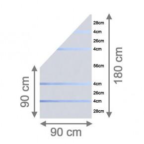 TraumGarten Sichtschutzzaun System Glas Alpha Anschluß links - 90 x 180/90 x 0,8 cm