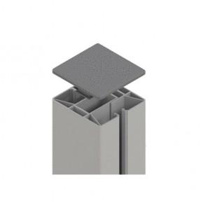 TraumGarten Zaunpfosten System Klemmpfosten Set silber - 8 x 8 x 192,5 cm