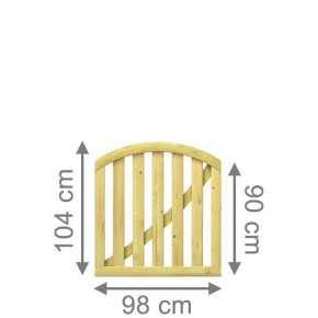 TraumGarten Vorgartenzaun KARLO Tor rund kdi - 98 x 90 (104) cm