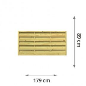 TraumGarten Sichtschutzzaun Lettland Rechteck kdi - 179 x 89 cm