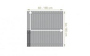 TraumGarten Sichtschutzzaun Maßanfertigung Squadra Rechteck anthrazit - Breite 20-200 x Höhe 91-200 cm