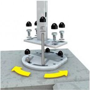 TraumGarten Adapter für Ecken für Aufschraubanker feuerverzinkt - 1 x 18 x 16 cm