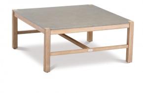 Best Loungetisch Madagaskar quadratisch - 74x74x36 cm - Eukaltyptus/Betonplatte