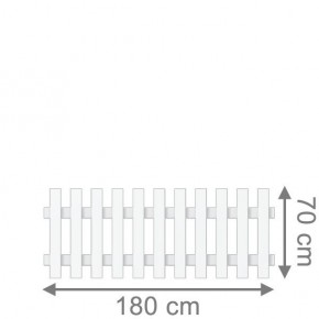 TraumGarten Vorgartenzaun Longlife Cara Rechteck weiß - 180 x 70 cm