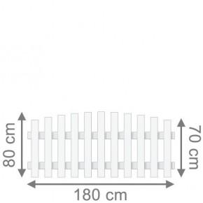 TraumGarten Vorgartenzaun Longlife Cara Runbbogen weiß - 180 x 70 (80) cm