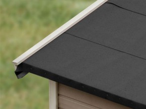 Karibu Selbstklebende Bitumen-Dachbahn für Satteldach - 2,5 qm Rolle - schwarz