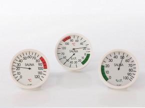 Sauna Zubehör Klimamesser weiß 120 mm für Sauna