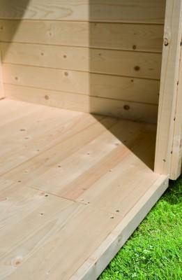 Woodfeeling Karibu Holz-Gartenhaus Fußboden für Sockelmaß 2,42m x 1,83m in naturbelassen (unbehandelt)