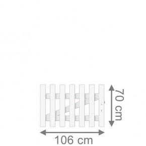 TraumGarten Gartentor Kunststoff Longlife Cara gerade DIN Rechts weiß - 106 x 70 cm
