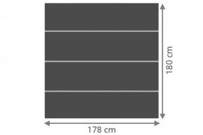 TraumGarten Sichtschutzzaun System Board XL Set Aluminium Rechteck schiefer - 178 x 180 cm