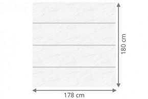 TraumGarten Sichtschutzzaun System Board XL Set Aluminium Rechteck marmor - 178 x 180 cm