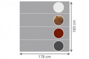 TraumGarten Sichtschutzzaun System Board XL Set Aluminium Rechteck Individuell - 178 x 180 cm