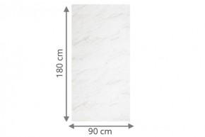 TraumGarten Sichtschutzzaun System Board Aluminium Rechteck marmor - 90 x 180 x 0,6 cm