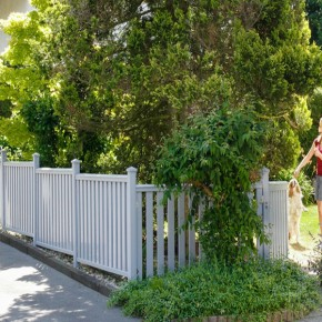 TraumGarten Gartentor Kunststoff Longlife Cara gerade DIN Links weiß - 106 x 70 cm
