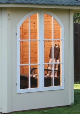 Wolff Finnhaus Holz-Gartenhaus HolzHolz Gartenpavillon Lugano 42-A - 42 mm /B Doppelfenster geschl. im Tausch