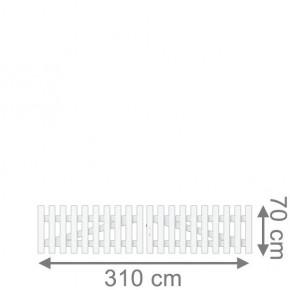 TraumGarten Gartentor Kunststoff Longlife Cara Doppeltor gerade weiß - 310 x 70 cm