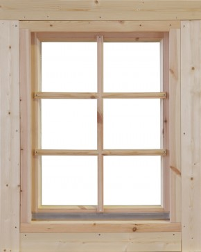 Wolff-Finnhaus Holz-Gartenhaus-Einzel-Fenster weiß feststehend