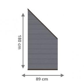 TraumGarten Sichtschutzzaun System WPC Anschluss Set anthrazit / anthrazit - 89 x 183 auf 89 cm