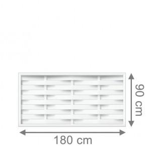 TraumGarten Sichtschutzzaun Longlife Romo Rechteck weiß - 180 x 90 cm