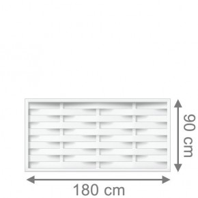TraumGarten Vorgartenzaun Kunststoff Longlife Romo Rechteck weiß - 180 x 90 cm