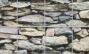 Sichtschutzstreifen Blickdicht deko - Stein Mediterran Druckmotiv