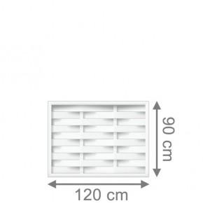 TraumGarten Sichtschutzzaun Longlife Romo Rechteck weiß - 120 x 90 cm