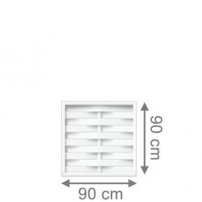 TraumGarten Vorgartenzaun Kunststoff Longlife Romo Quadrat weiß - 90 x 90 cm