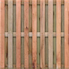 TraumGarten Sichtschutzzaun Jumbo Eiche Rechteck geölt - 179 x 179 cm