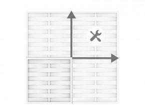 TraumGarten Sichtschutzzaun Kunststoff Longlife Romo Selbstbau-Zaun weiß bis max. 180 x 180cm