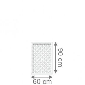 TraumGarten Sichtschutzzaun Longlife Romo Rechteck weiß - 60 x 90 cm