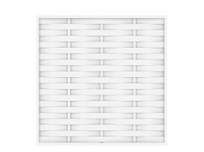 TraumGarten Sichtschutzzaun Kunststoff Longlife Romo Rechteck weiß - 180 x 180 cm