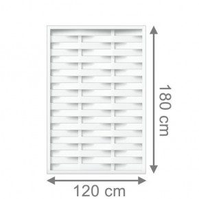 TraumGarten Sichtschutzzaun Kunststoff Longlife Romo Rechteck weiß - 120 x 180 cm