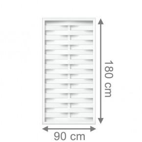TraumGarten Sichtschutzzaun Kunststoff Longlife Romo Rechteck weiß - 90 x 180 cm