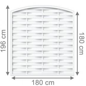 TraumGarten Sichtschutzzaun Kunststoff Longlife Romo Rundbogen weiß - 180 x 180 (196) cm