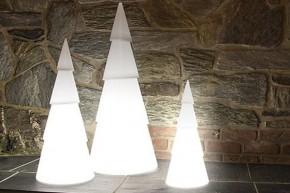 8 Seasons Designs - Shining Christmas Tree rund - Hoch 100 cm - Farbe weiß in Kunststoff