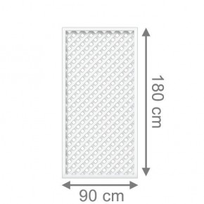 TraumGarten Rankgitter Kunststoff Longlife Rechteck weiß - 90 x 180 cm