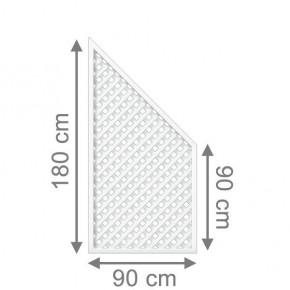 TraumGarten Rankgitter Longlife Anschluss weiß - 90 x 180 auf 90 cm