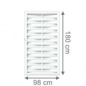 TraumGarten Sichtschutzzaun Longlife Romo Tor weiß - 98 x 180 cm