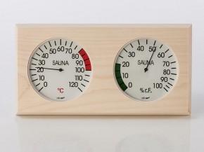 Sauna Zubehör Messstation Holzgehäuse 295 x 155 mm Messgeräte 120 mm