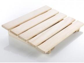 Sauna Zubehör Kopf- oder Fußstütze aus Holz, mit Metallstifen