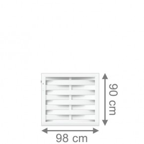 TraumGarten Sichtschutzzaun Longlife Romo Tor weiß - 98 x 90 cm
