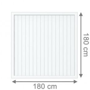TraumGarten Sichtschutzzaun Kunststoff Longlife Riva Rechteck weiß - 180 x 180 cm
