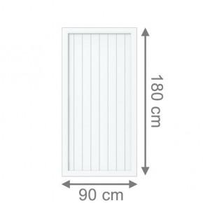 TraumGarten Sichtschutzzaun Kunststoff Longlife Riva Rechteck weiß - 90 x 180 cm