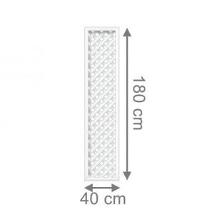 TraumGarten Rankgitter Kunststoff Longlife Rechteck weiß - 40 x 180 cm