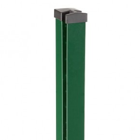 Zaunpfosten Doppelstabgitterzaun Typ HP-MA  RAL 6005 moosgrün Länge: 2400 mm