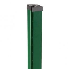 Doppelstabgitterzaun Zaunpfosten Typ HP-MA für Mattenstärke 8/6/8 70x40x2 RAL 6005 - Länge: 1100 mm