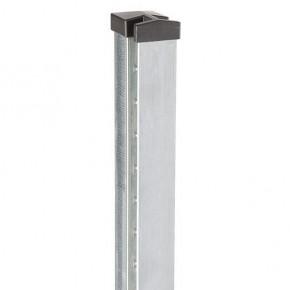 Doppelstabgitterzaun Zaunpfosten Typ HP-MA für Mattenstärke 8/6/8 70x40x2 Feuerverzinkt - Länge: 1100 mm