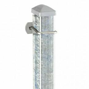 Zaunpfosten Doppelstabgitterzaun Typ U  silbergrau verzinkt - Länge: 1100 mm