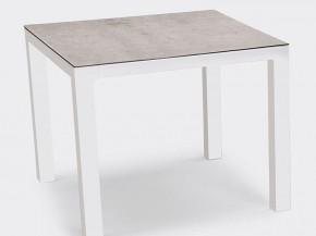 Best Tisch Houston 90x90cm weiss/silber